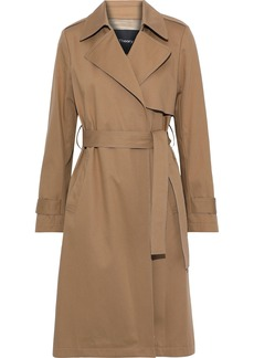 Theory Woman Oaklane Cotton-blend Gabardine Trench Coat Camel