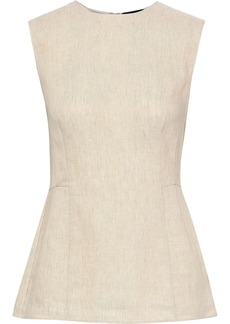 Theory Woman Paneled Linen Top Beige