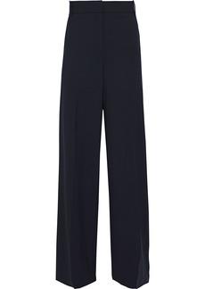 Theory Woman Piazza Wool-blend Wide-leg Pants Navy