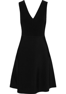 Theory Woman Ribbed And Stretch-knit Dress Black
