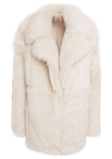 Theory Woman Shearling Coat Off-white