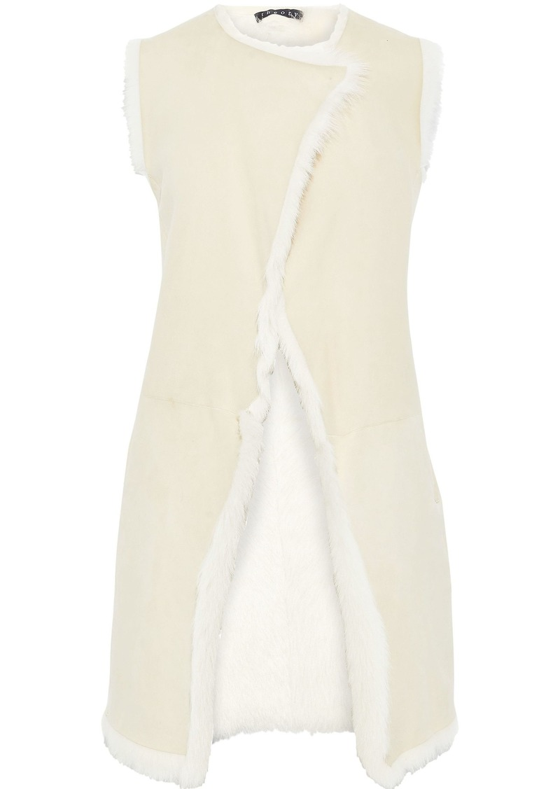 Theory Woman Shearling Gilet Ivory