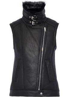 Theory Woman Shearling Vest Black