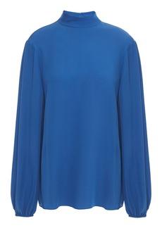 Theory Woman Silk Blouse Blue