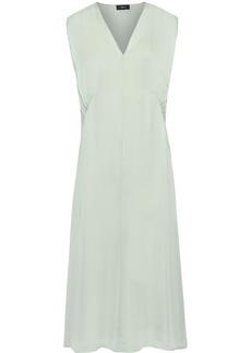 Theory Woman Silk-charmeuse Midi Dress Mint