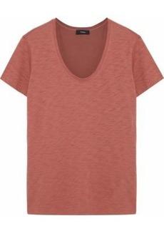 Theory Woman Slub Cotton-jersey T-shirt Brick