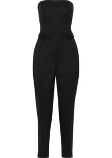 Theory Woman Strapless Woven Jumpsuit Black