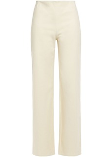 Theory Woman Stretch-cotton Ponte Wide-leg Pants Cream