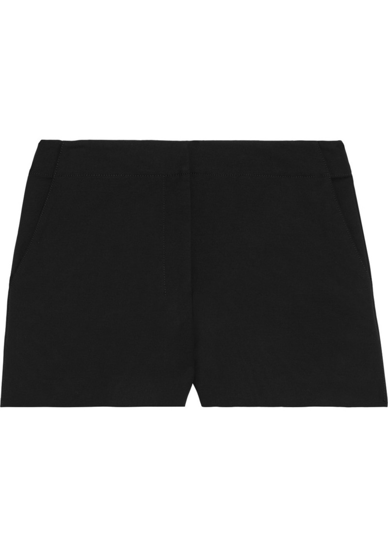 Theory Woman Stretch-cotton Shorts Black