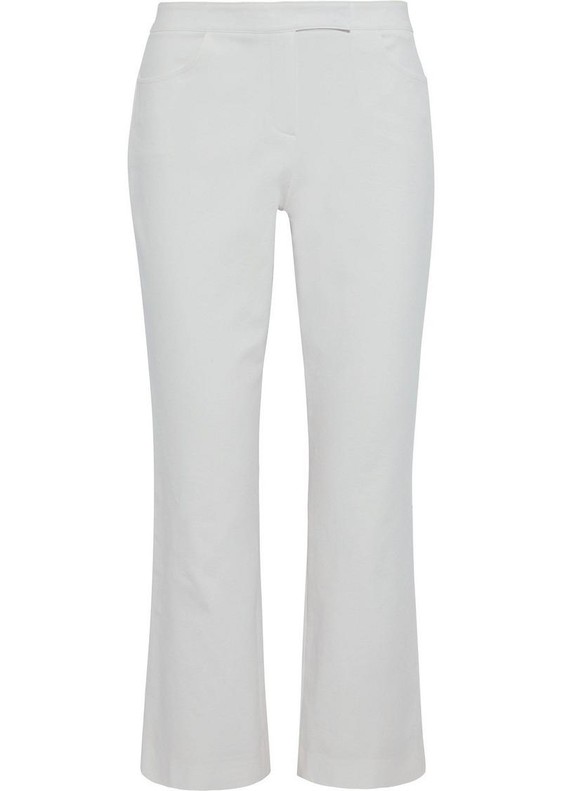 Theory Woman Stretch-cotton Twill Kick-flare Pants Light Gray