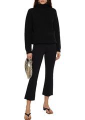 Theory Woman Stretch-ponte Kick-flare Pants Black