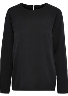 Theory Woman Stretch-silk Top Black