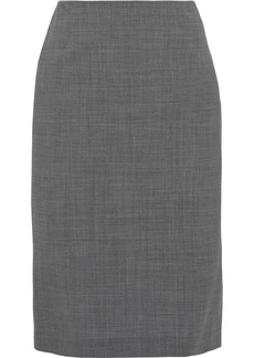 Theory Woman Stretch-wool Pencil Skirt Anthracite