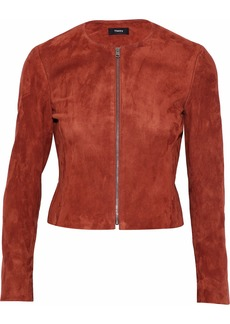 Theory Woman Suede Jacket Brick