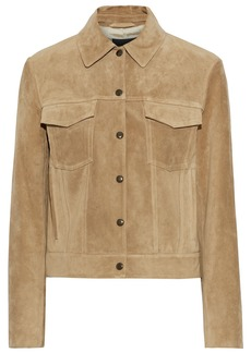 Theory Woman Suede Jacket Sand
