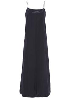 Theory Woman Taffeta Maxi Slip Dress Midnight Blue