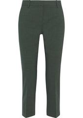 Theory Woman Treeca Cropped Stretch-wool Slim-leg Pants Army Green