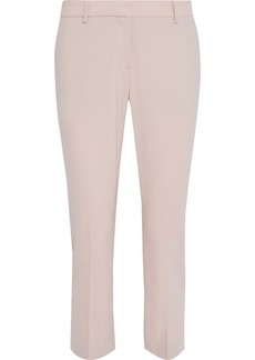 Theory Woman Treeca Cropped Stretch-wool Slim-leg Pants Blush
