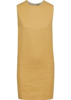 Theory Woman Twill Mini Dress Mustard