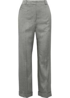 Theory Woman Twill Straight-leg Pants Gray