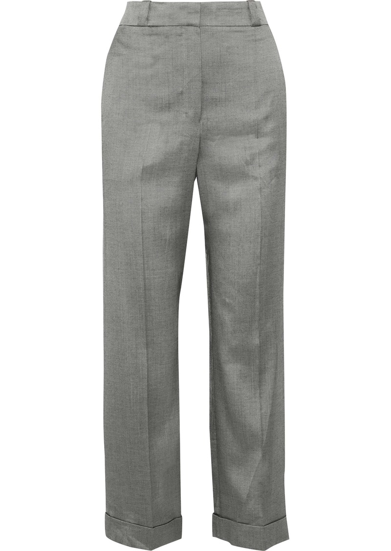 Theory Woman Twill Straight-leg Pants Gray