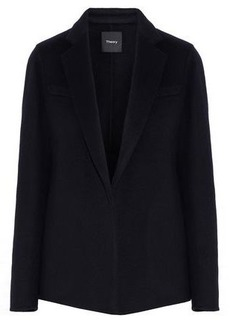 Theory Woman Wool And Cashmere-blend Blazer Midnight Blue
