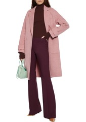 Theory Woman Wool-blend Crepe Flared Pants Red