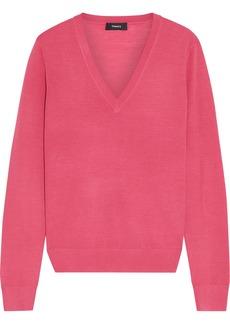 Theory Woman Wool-blend Sweater Pink