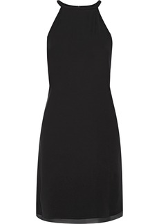 Theory Woman Yareta Georgette-trimmed Cady Dress Black