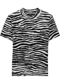 Theory Woman Zebra-jacquard T-shirt Animal Print