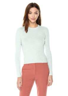 Theory Women's 3/4 Sleeve Ribbed Crewneck Sweater  M