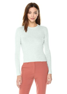 Theory Women's 3/4 Sleeve Ribbed Crewneck Sweater  M