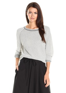 Theory Women's Amistair F_Crimp Kni Pull-Over (Sweaters) c Ivory/Black L