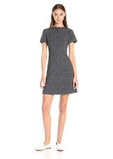 Theory Women's Apalia Tweed Twill C Dress  a Black/White