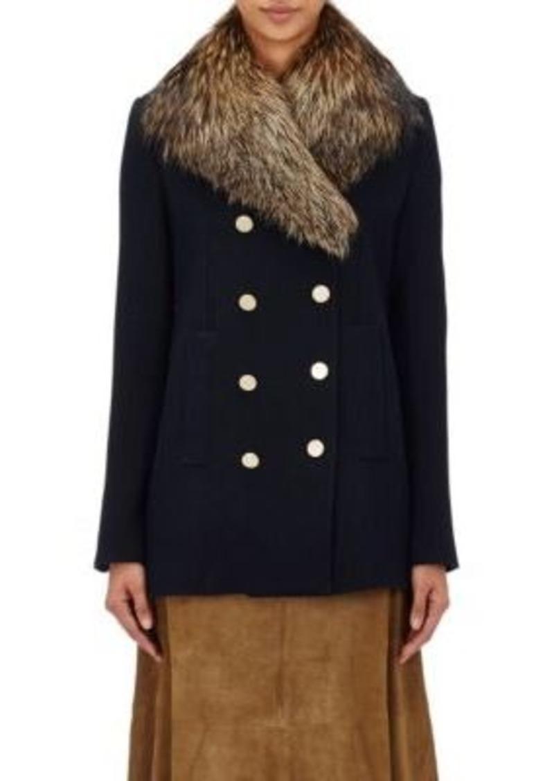 Theory Women's Belmore Fox-Fur-Collar Coat