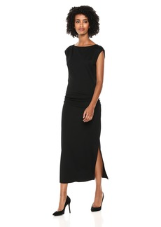 Theory Women's Cap Sleeve Minimal Ruched Sheath Dress  P