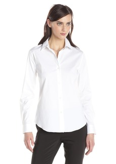 Theory Women's Classic Long Sleeve Tenia Buttondown Blouse