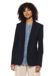 Theory Women's Classic ONE Button Essential Jacket deep Navy
