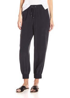 Theory Women's Cortlandt Summer Silk Pant Concord