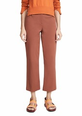 Theory Women's Crop Pants  Brown Tan