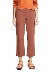 Theory Women's Crop Pants  Brown Tan