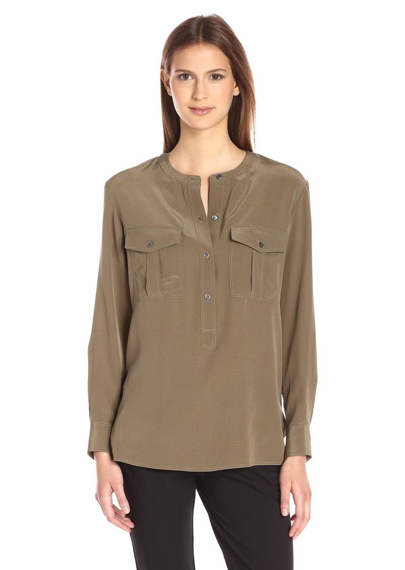 Theory Women's Damaris Summer Silk Shirt  S
