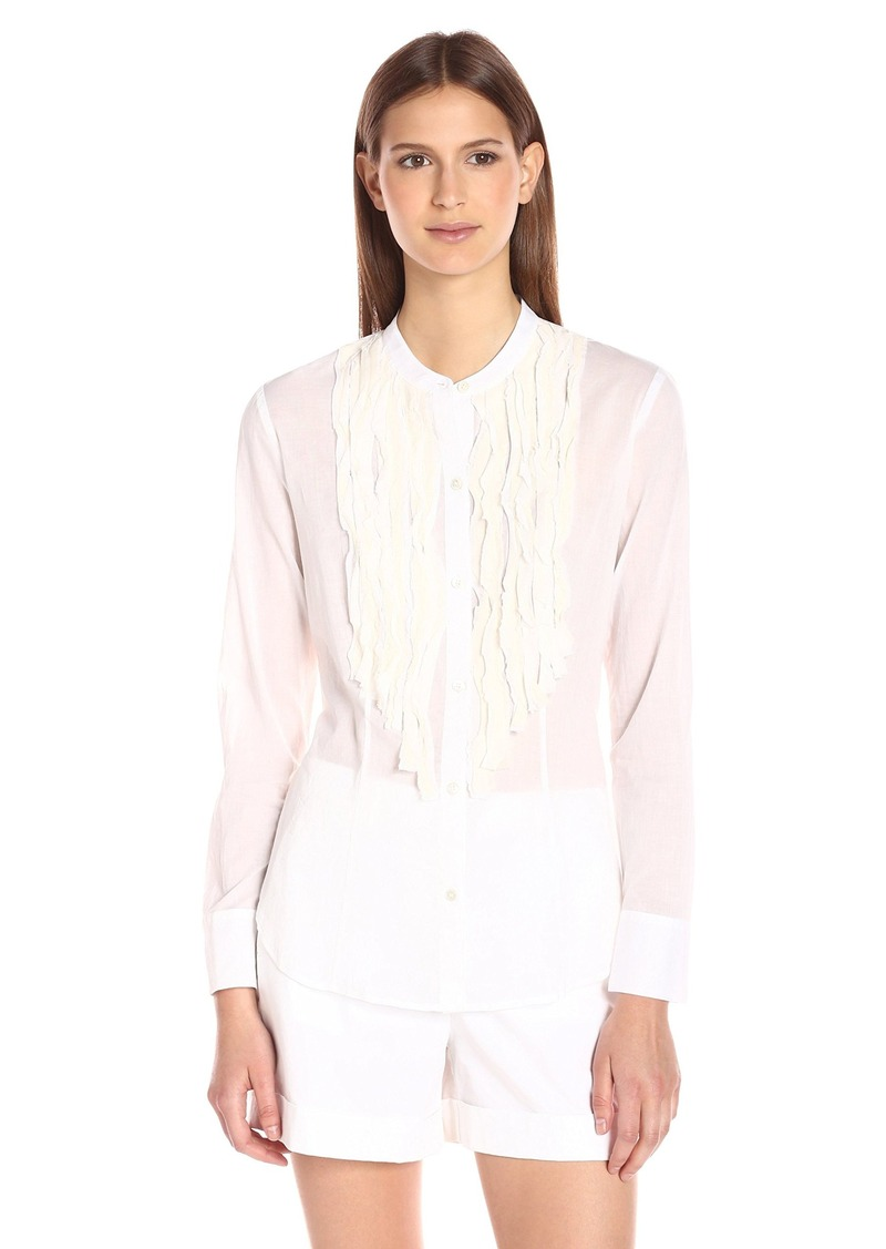 Theory Women's Delphinaa Cotton Law Shirt  L