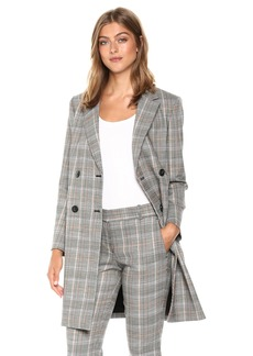 Theory Women's Double Breasted Square Coat  M