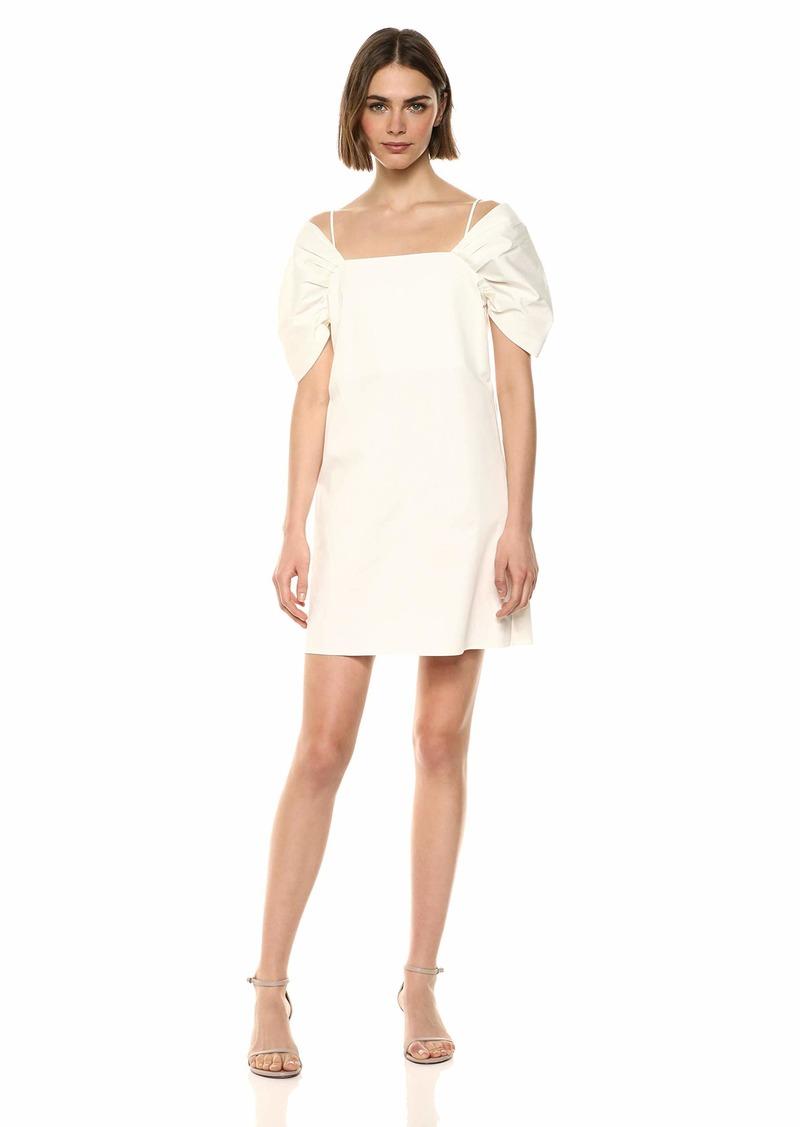 Theory Women's Draped Convertible Sleeve Dress sea Salt S
