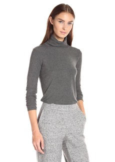 Theory Women's Eliezer Ribbed Visc1 Shirt  a Charcoal  S