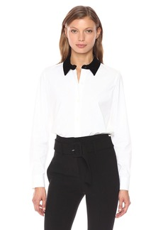 Theory Women's Fancy Shirt Top  M