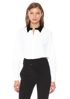 Theory Women's Fancy Shirt Top  S