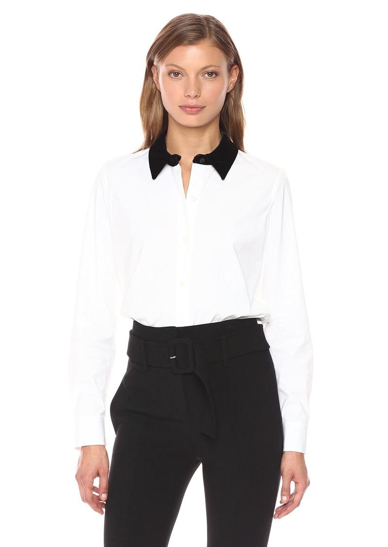 Theory Women's Fancy Shirt Top  S