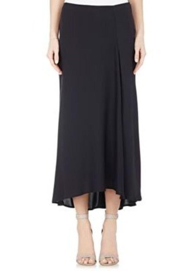 Theory Women's Georgette Maity Midi-Skirt-NAVY Size 6